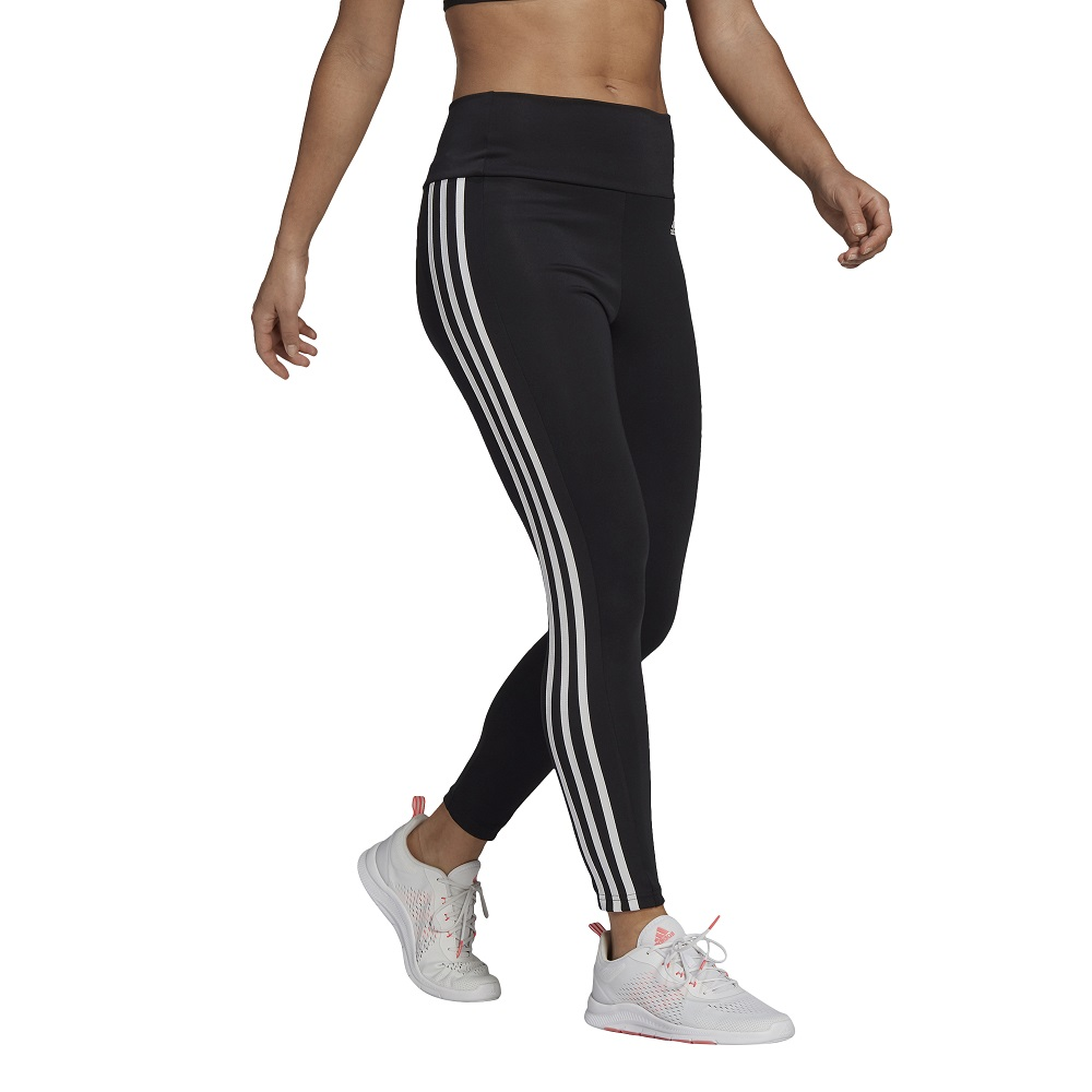 Calça Legging Adidas 7-8 Designed To Move 3 Stripes Feminina