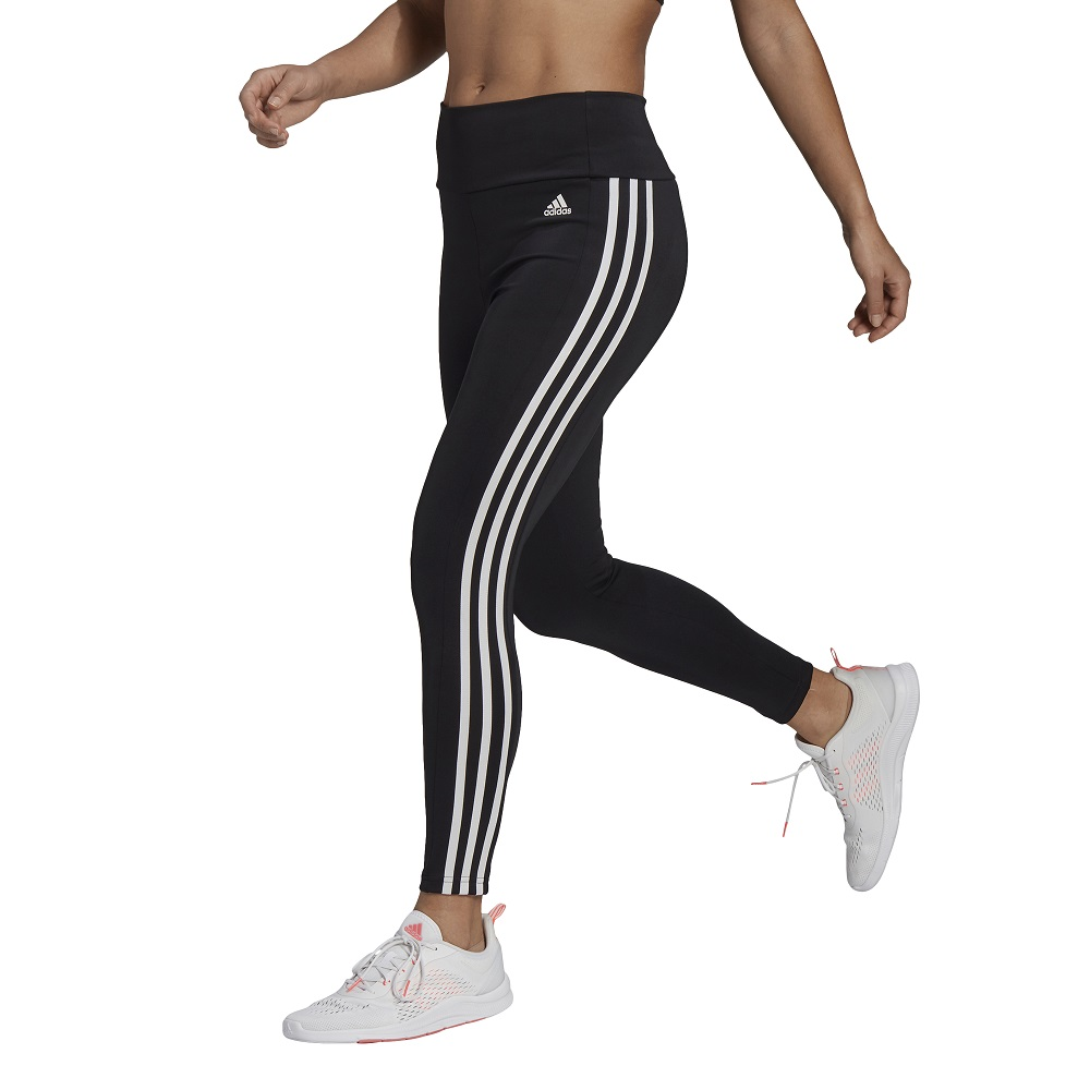 Calça Legging Adidas 7-8 Designed To Move 3 Stripes Feminina