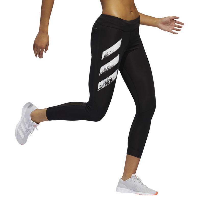 Calça Legging Adidas Own The Run 3-Stripes Fast Feminina