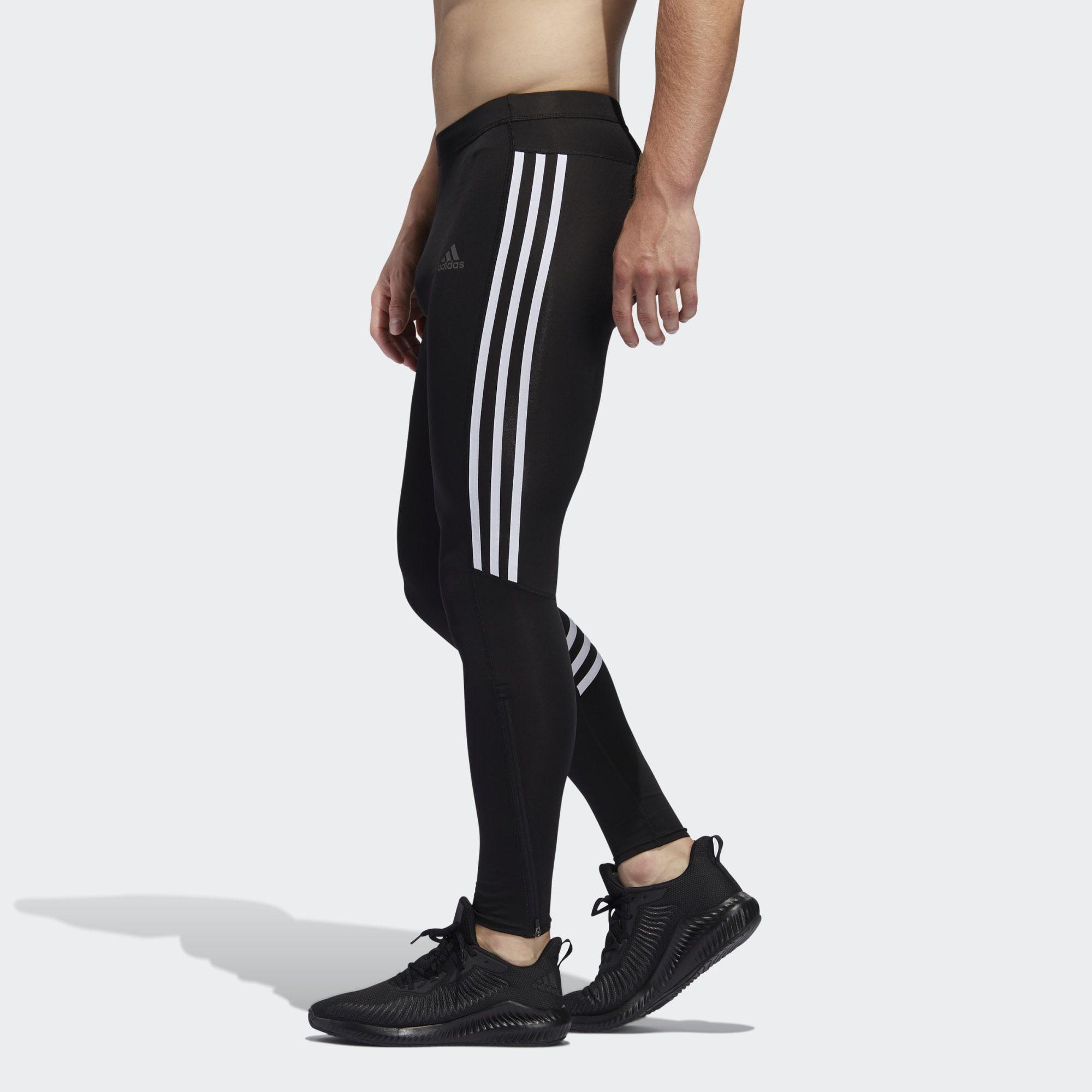 Calça Legging Adidas Run It 3-Stripes Masculina