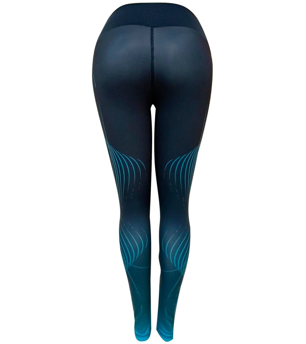 Calça Legging Authen Trill Arawá/Fluvial Feminina