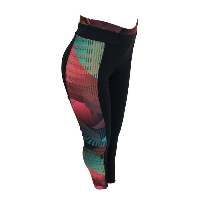 Calça Legging Colcci Estampada Recortes com Tule