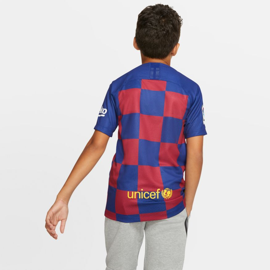 Camisa Nike Dri-FIT Breathe FC Barcelona Stadium Home Juvenil