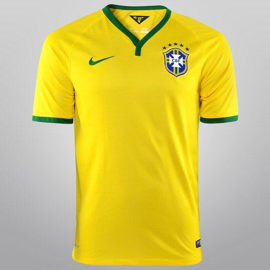 Camisa Nike Seleção Brasil I 14/15 s/nº - Torcedor
