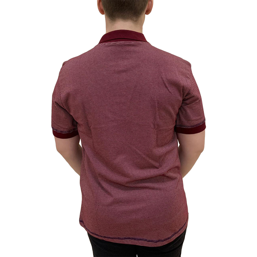 Camisa Polo Proside Jackard Bordo
