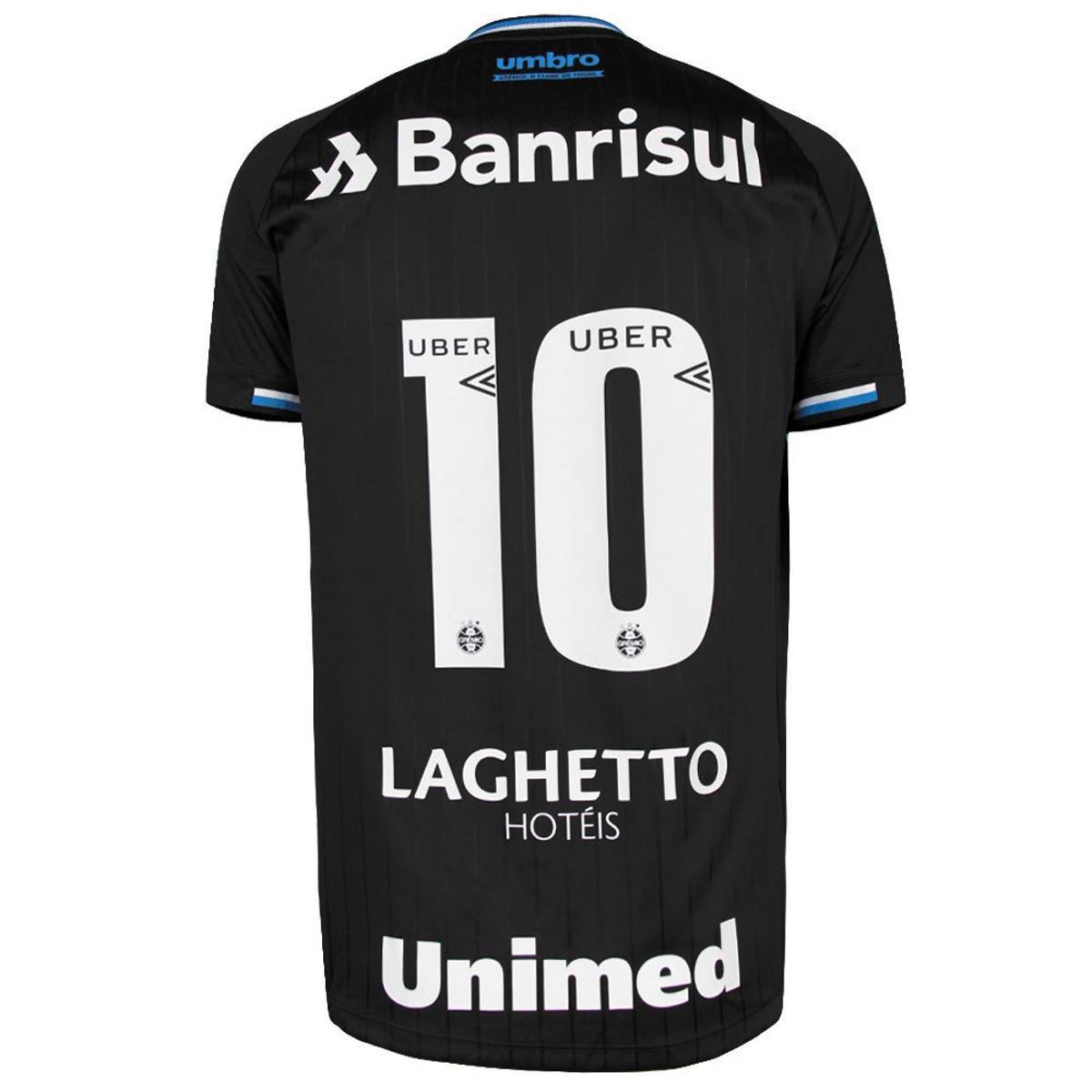 Camisa Umbro Grêmio Oficial III 2018 N° 10