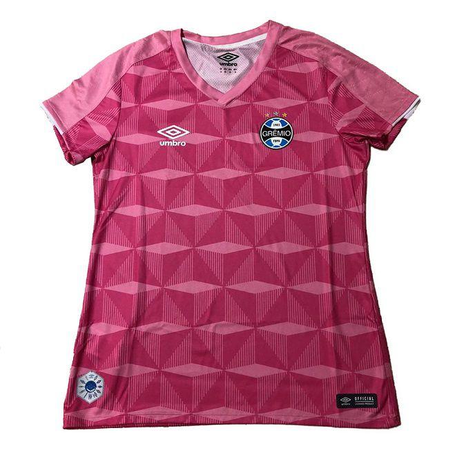 Camisa Umbro Gremio Comemorativa Outubro Rosa 2019 Feminina Ref 3g160992 Sportland