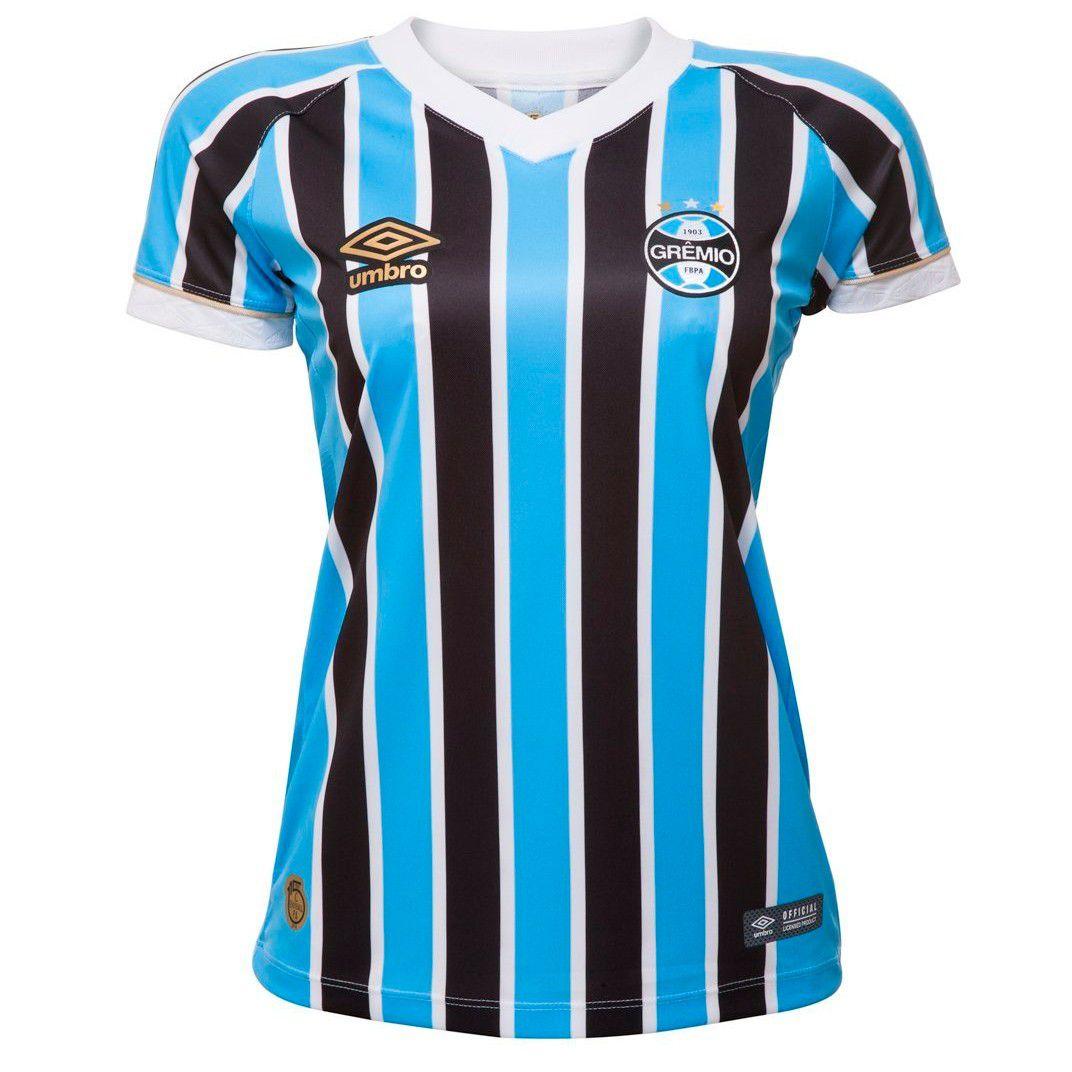 0000066b1 Camisa Umbro Grêmio OF.1 2018 Feminina (FAN) Ref.778296 - Sportland