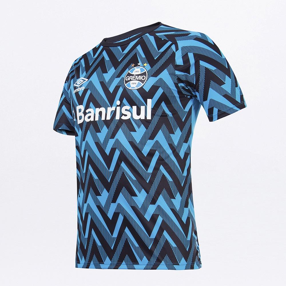 Camisa Umbro Grêmio Oficial Aquecimento 2021