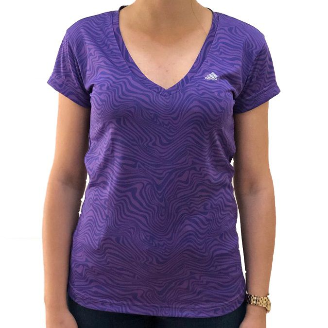 Camiseta Adidas All Over Print Grafica Feminina