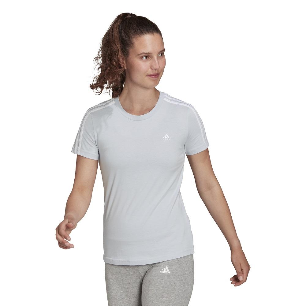 Camiseta Adidas Essentials Slim 3 Stripes Feminina