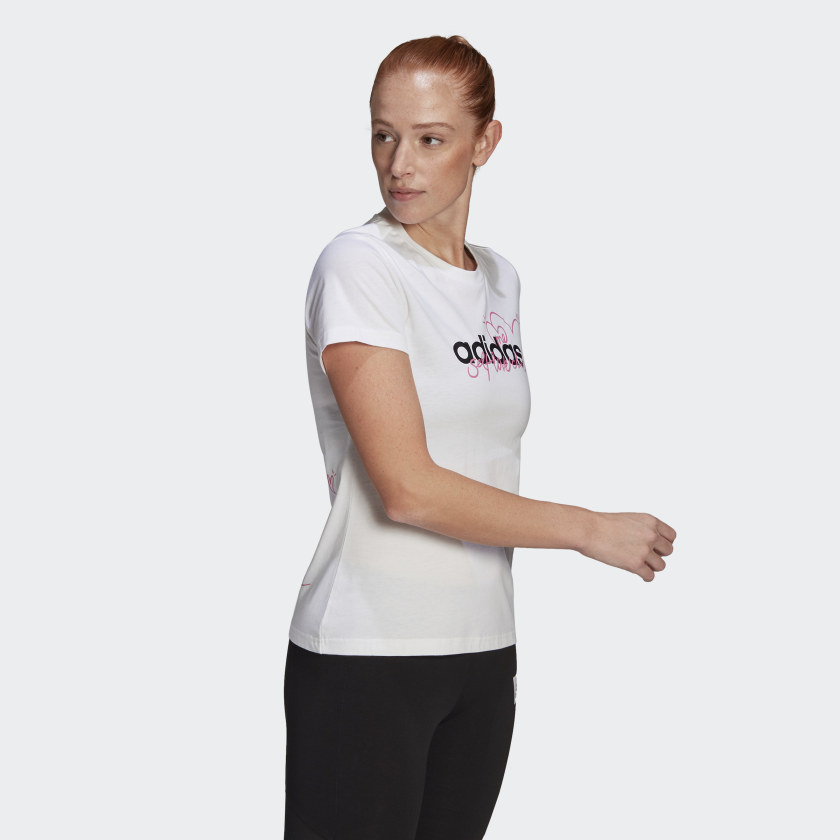 Camiseta Adidas Estampada Heart Feminina