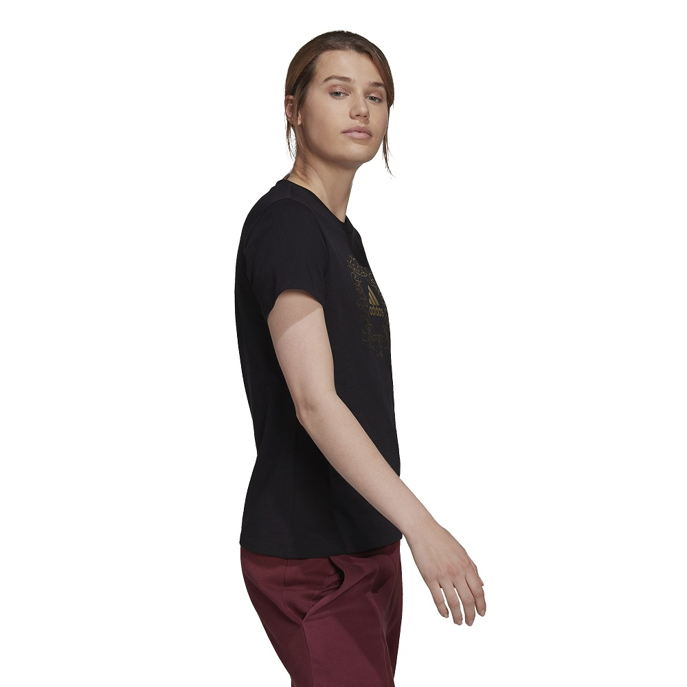 Camiseta Adidas Logo Metalizada Foil Mandala Feminina