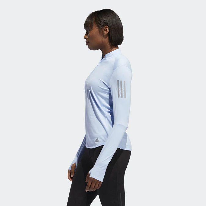 Camiseta Adidas Own The Run Zip Feminina