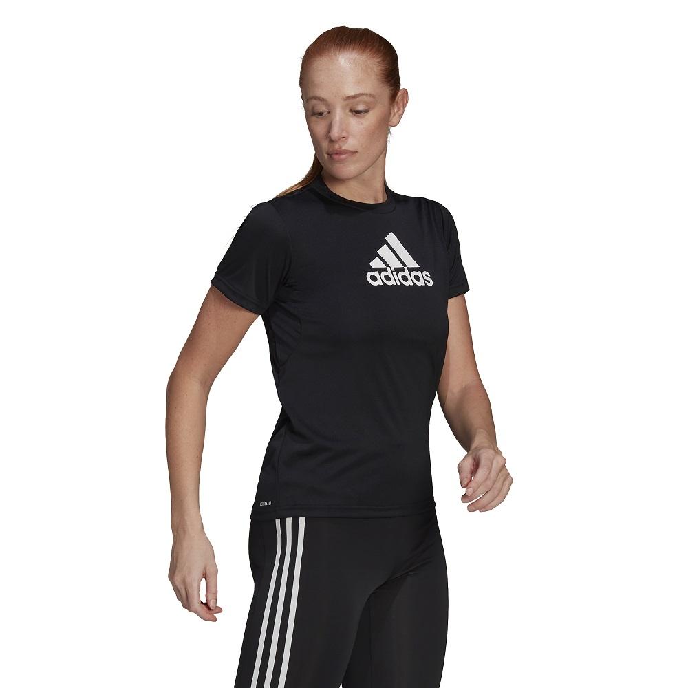 Camiseta Adidas Primeblue Designed 2 Move Logo Feminina