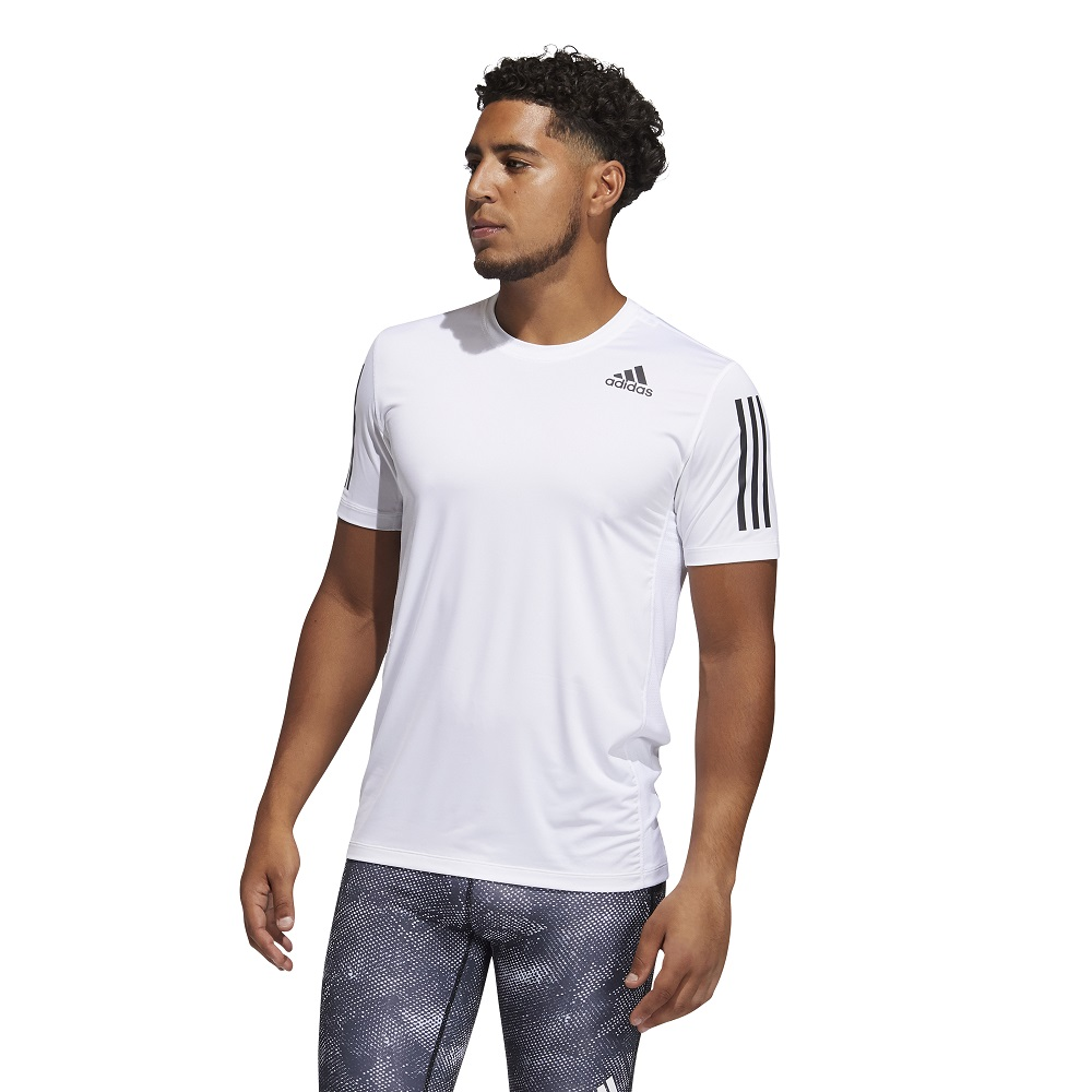 Camiseta Adidas Techfit 3 Stripes Fitted