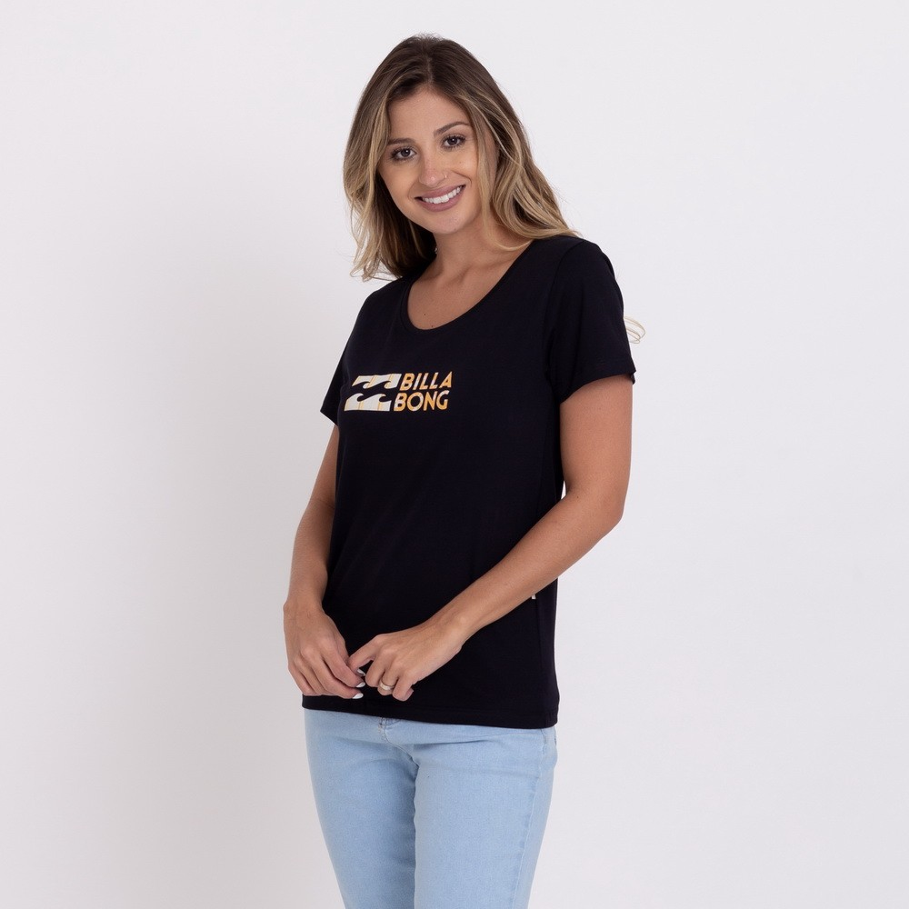 Camiseta Baby Look Billabong Made of Sun Feminina