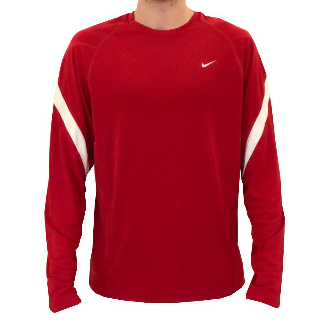 Camiseta Nike Dri Fit Manga Longa Red I