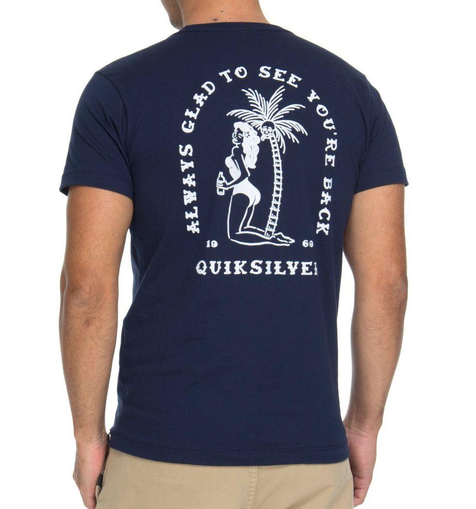Camiseta Quiksilver Slim Glad You're Back