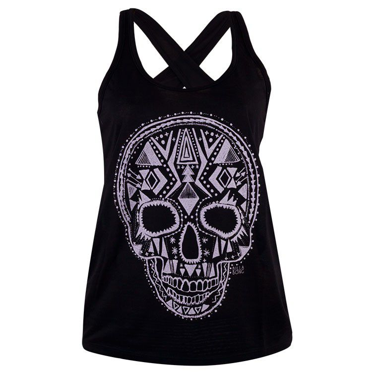 Camiseta Regata Billabong Skull Feminina