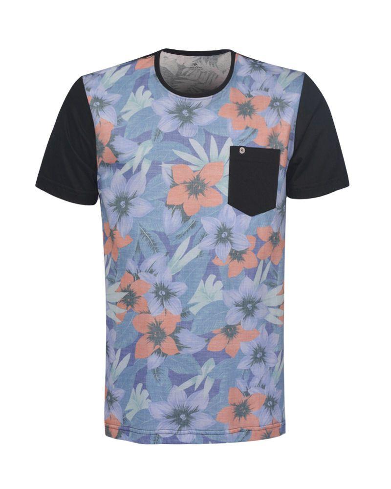 Camiseta Rip Curl Especial Surf Vibe Floral Blue