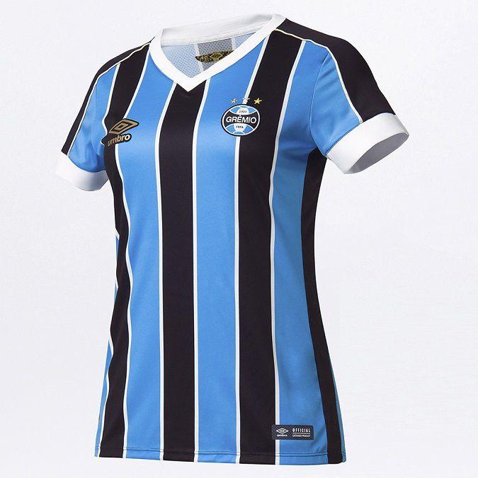 Camiseta Umbro Grêmio Oficial 2019 Feminina