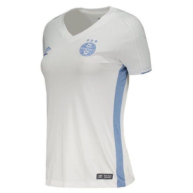Camiseta Umbro Grêmio Oficial II 2019 Feminina