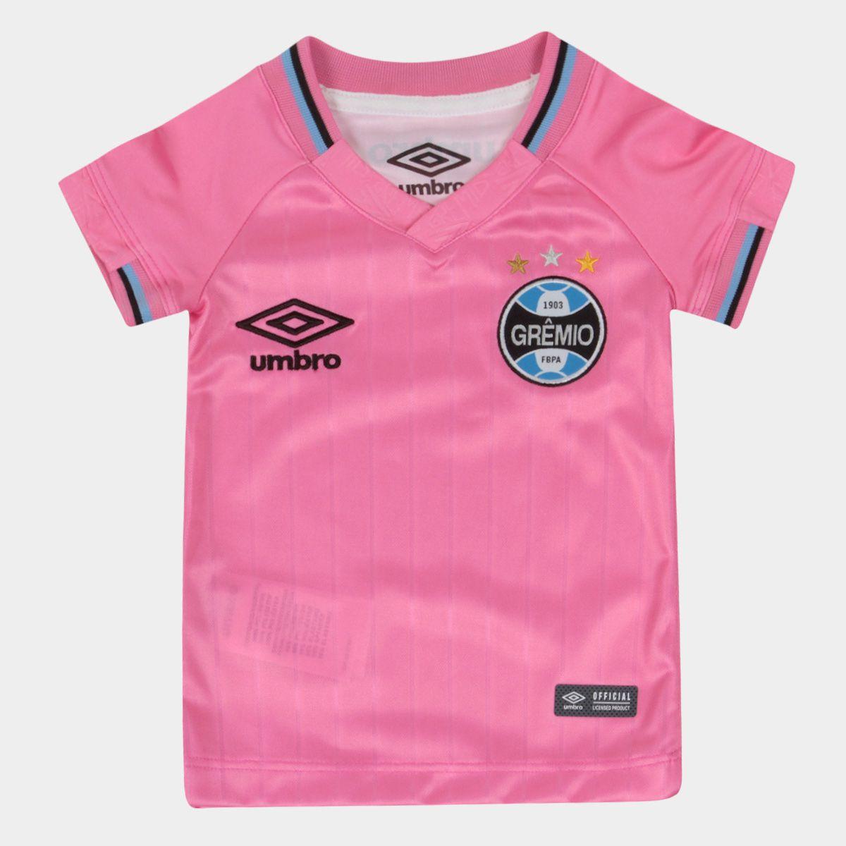 Camiseta Umbro Grêmio Outubro Rosa 2018 Feminina INFANTIL
