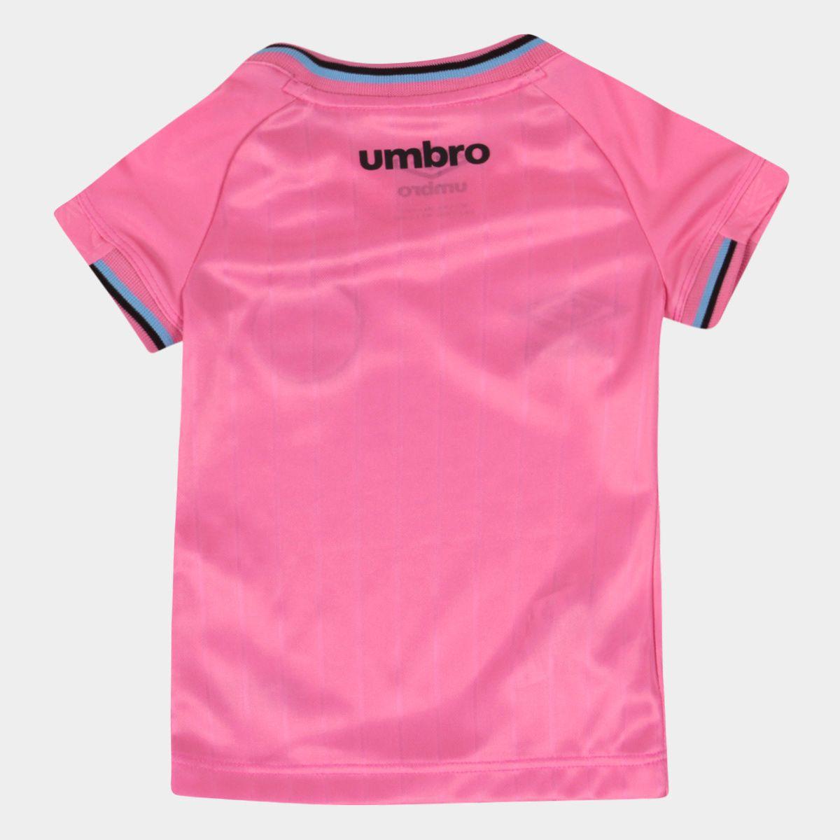 Camiseta Umbro Grêmio Outubro Rosa 2018 Feminina Juvenil