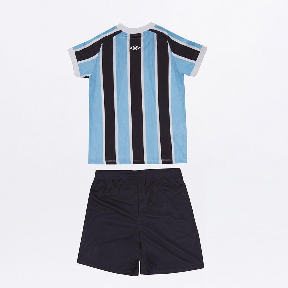 Kit Calção e Camisa Umbro Grêmio Oficial I 2021 INFANTIL