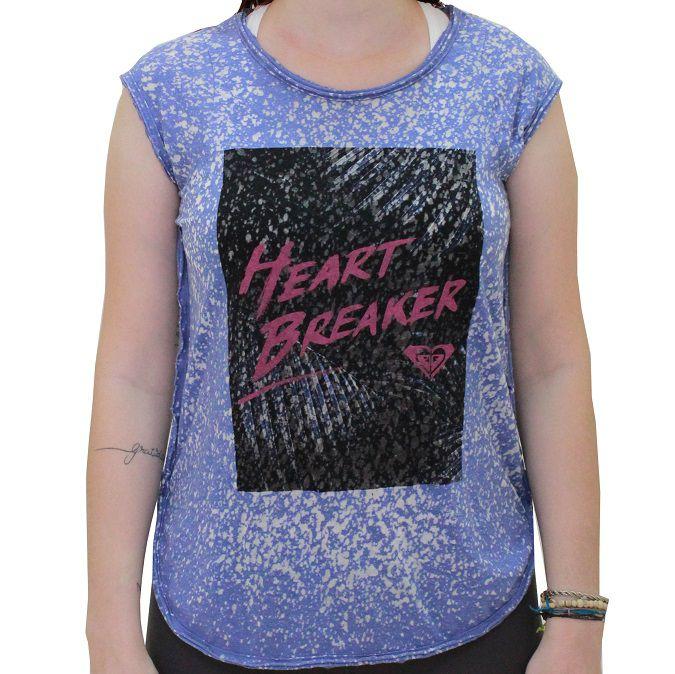 Camiseta Roxy Vintage Heart Breaker Feminina