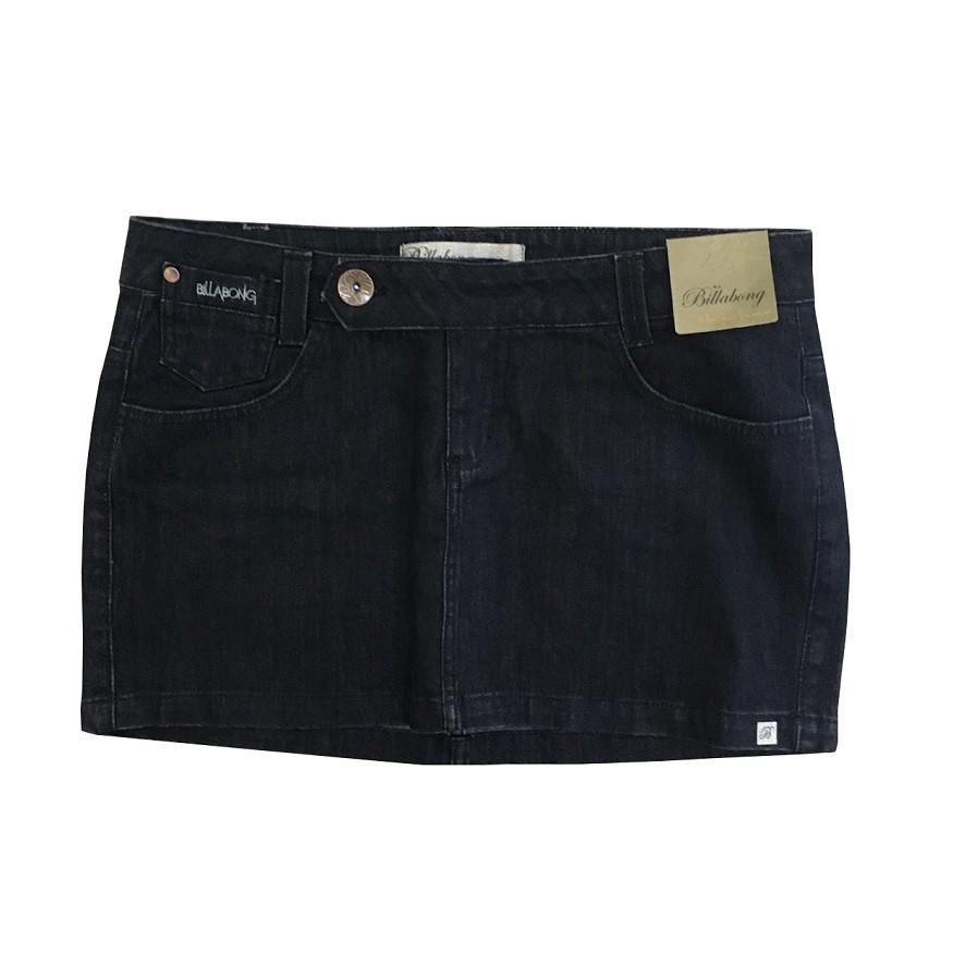 Saia Jeans Billabong Unique Denim Feminina