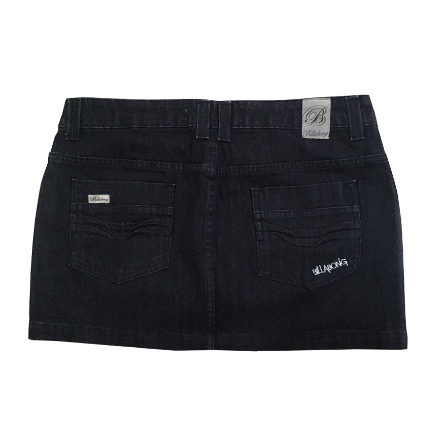 Saia Jeans Billabong Unique Denim Feminina
