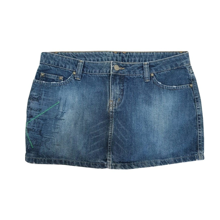 Saia Jeans Rip Curl Alley Feminina