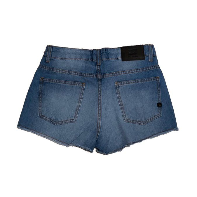 Short Jeans Billabong Denim Blue Feminino