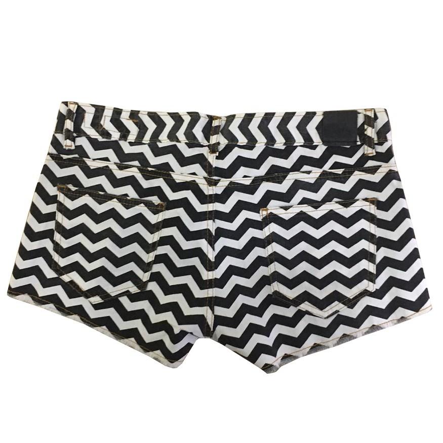 Short Jeans Billabong Listrado Feminino