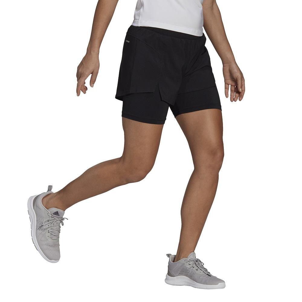 Shorts Adidas 2 em 1 Primeblue Designed to Move Feminino
