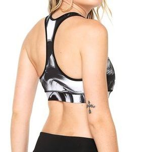 Top Adidas Estampado Techfit Feminino