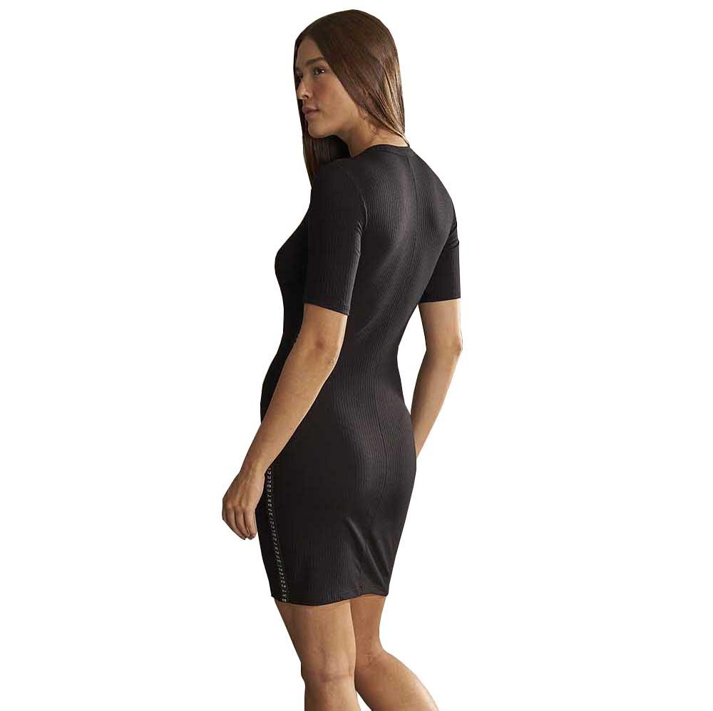 Vestido Curto Colcci Canelado Perfect Black