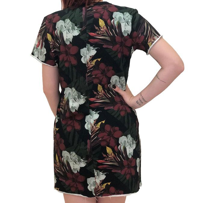 Vestido Curto de Moletom Colcci Estampado Chelsea Feminino