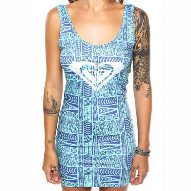 Vestido Roxy Line Colors