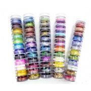 Kit c/ 12 Glitters para Decoração de Unhas - Torre