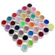Kit c/ 36 Gel UV Colorido para Unhas