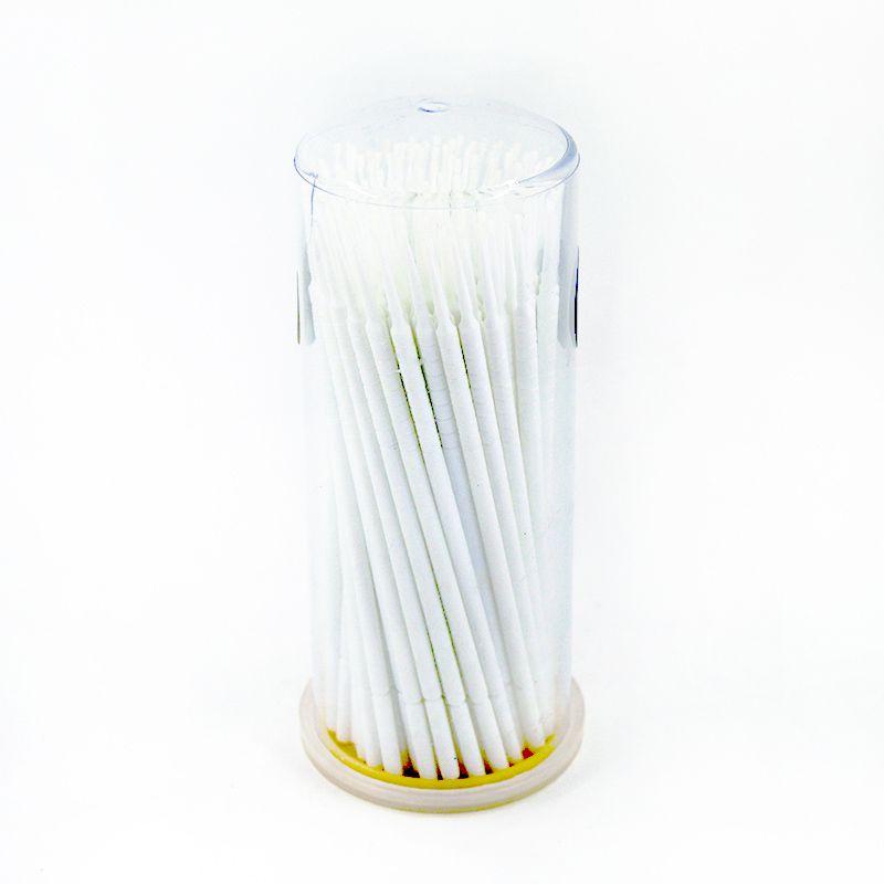 Cotonete Pote Microbrush para Cílios Navina c/ 100 unidades Cores Variadas