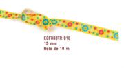 Fita Estampada Progresso Cetim 15mm - ECF003TR 016 10mts