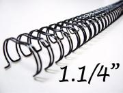 Garra Wireo Espiral 5un 2x1 Encadernação 1.1/4 P/270 Fls A4