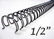 Garra Wireo Espiral 5un 3x1 Encadernação 1/2 P/ 100 Fls A4