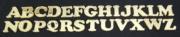 Letras em Acrílico 3cm com 10 pçs