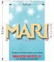 Aplique em acrílico espelhado - Frozen Nome Personalizado - 7cm - 10 peças