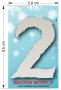 Aplique em acrílico espelhado - Números Frozen - 7cm - 10 peças